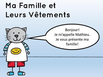 Les Vêtements – Vocabulary Presentation – French Clothing