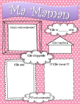 Ma Maman - My Mom : La Fête des Mères - Mother's Day activity