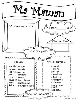 Ma Maman - My Mom : La Fête des Mères - Mother's Day activity