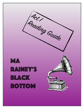 Ma Rainey's Black Bottom Act I Reading Guide