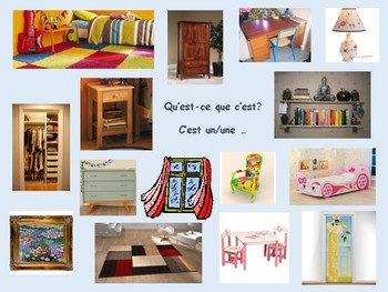 Ma chambre et prépositions de lieu, French activity bedroom & prep of place