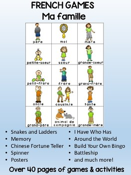 Ma famille / My family - FRENCH - Games - Revised with new clip art