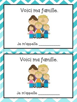 La Famille bundle - French family vocabulary sheet and writing booklet