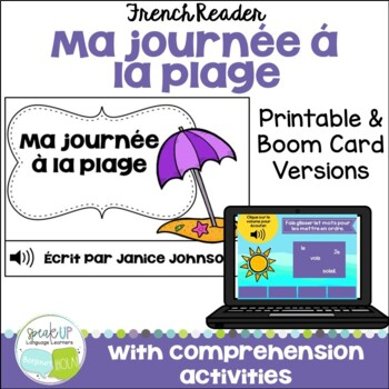 Ma journée à la plage French Beach reader {livre en français} & Sorting Activity