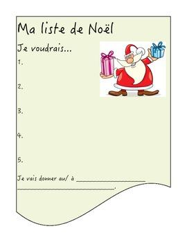 Ma liste de Noël (Christmas List)