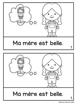 Ma mère est belle French Adjective Reader  {en français}