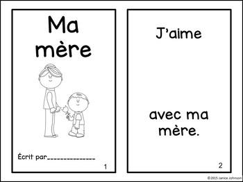 Ma mère et mon père French Mother & Father Reader & Build-A-Book
