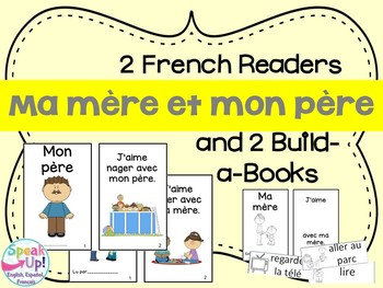 Ma mère et mon père French Mother & Father Reader & Build-A-Book