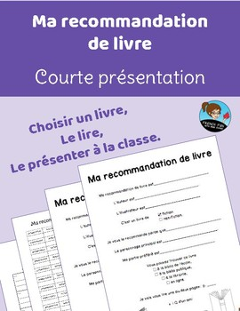 Ma recommandation de livre *FRENCH*