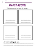 Ma vie active! Grade 1, 2, 3 French Immersion Healthy Active Living Sheets