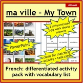 French Immersion or Core: ma ville / my town, places, acti