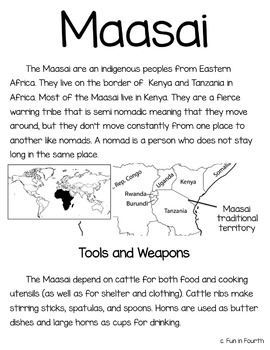 Maasai: Global Indigenous Cultures Informational Article