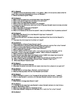 Mabeth Guiding Questions