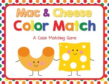 Mac & Cheese Color and Color Word Match