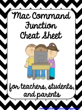 Mac Commands Cheat Sheet {1:1 Classroom Ready}