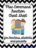 Mac Commands Cheat Sheet {1:1 Classroom Ready}