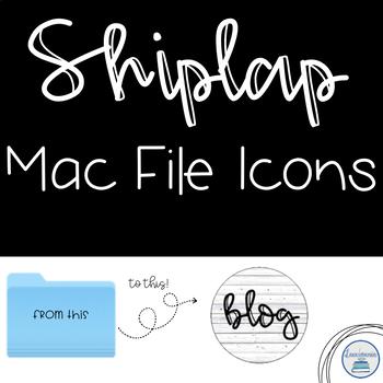 Mac File Folder Icons in Shiplap