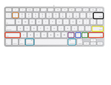 Color coded keys- Created for use with Mac keyboards
