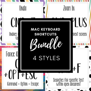 Mac Keyboard Shortcuts Bundle (4 styles)