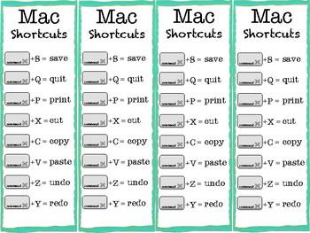Mac Shortcut Bookmarks