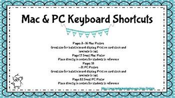 Mac and PC Keyboard Shortcut Bundle