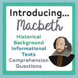 Macbeth Introduction History Informational Texts, Activiti