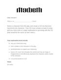 MacBeth Final Project: Create a CD