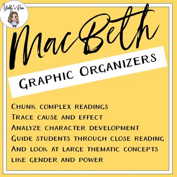 MacBeth Graphic Organizers and Close Readings (CCSS Aligned)