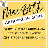 MacBeth Pre Reading Activities and Anticipation Guide