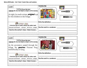 MacGraw Hill Wonders 4th Grade (Unit 1 Week 1)
