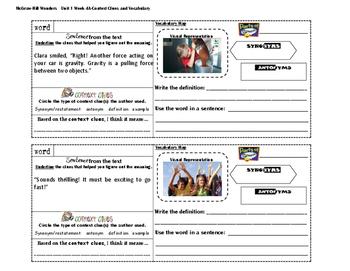 MacGraw Hill Wonders 4th Grade (Unit 1 Week 4)