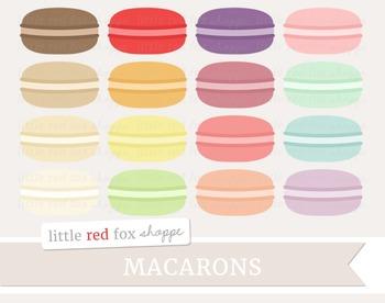 Macaron Clipart; Dessert, Baking