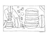 Macaron Coloring Page