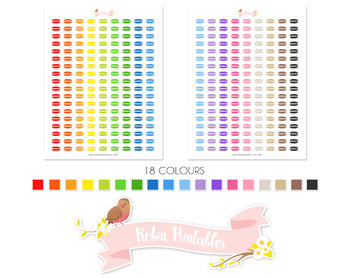 Macaron Printable Planner Stickers