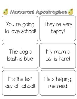 Macaroni Apostrophes