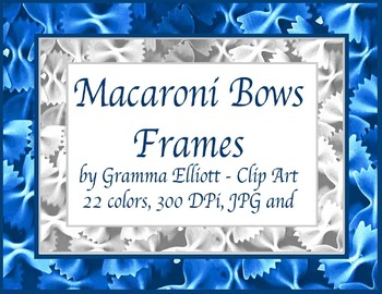 Frame Clip Art - Brightly Colored Macaroni Bows