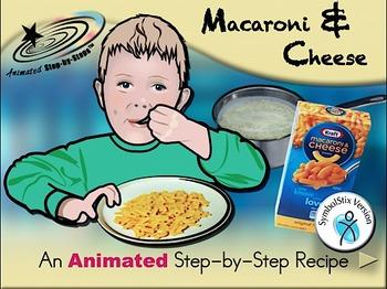 Macaroni & Cheese - Animated Step-by-Step Recipe SymbolStix