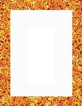 Macaroni Frames in Fall Colors