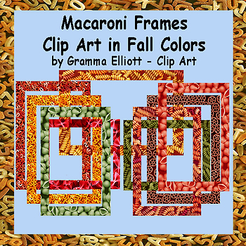 Macaroni Frames in Fall Colors