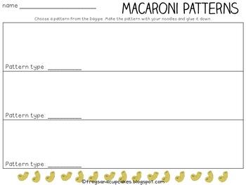 Macaroni Patterns Freebie