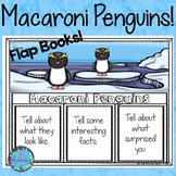 Winter Activities for First Grade Macaroni Penguins Writing Flap Books!