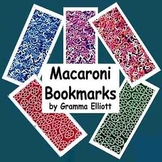 Book Marks Macaroni Wheel and Alphabet Theme