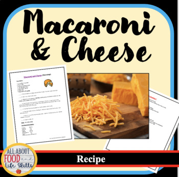 Macaroni and Cheese Stovetop Recipe- Hands-on Activity!  Teamwork!
