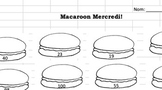 Macaroons! Mad Minute Style Activity TEMPLATE
