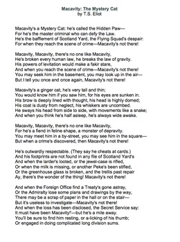 Macavity by T.S. Eliot - Lessons, Analysis, & Writing