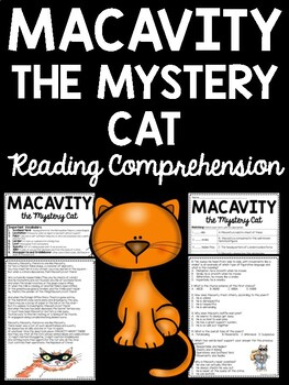 Macavity the Mystery Cat by T.S. Eliot Reading Comprehensi