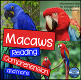 Reading Comprehension Worksheets: Macaws Reading Passages