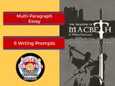 Macbeth: 6 Essay Writing Prompts