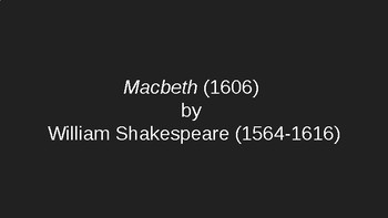 Macbeth AP Literature Daily Activities and Reviews PowerPoint