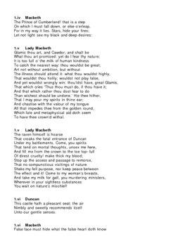 Macbeth Act 1 Key Quotations
